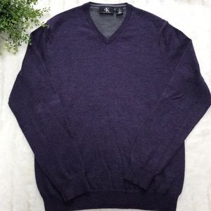 Calvin Klein V- Neck Purple Sweater